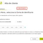 Formulario de registro con Bankia paso 4