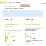 Formulario de registro con Bankia paso 5