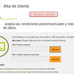 Formulario de registro con Bankia paso 7