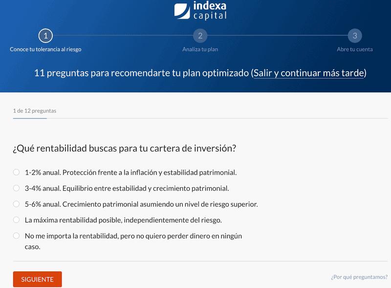https://Test de perfil de usuario de Indexa Capital
