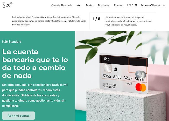 Abrir una cuenta bancaria con N26 es fácil