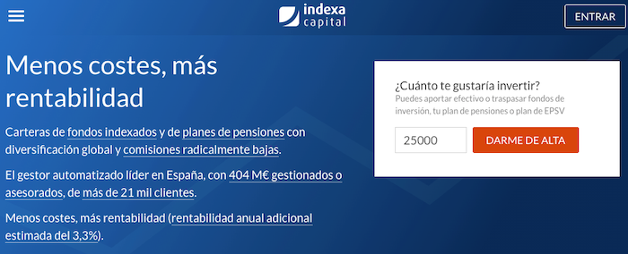 Planes de pensiones Indexa Capital